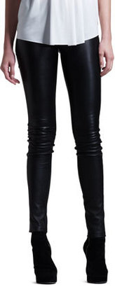 Helmut Lang Stretch-Leather Skinny Pants