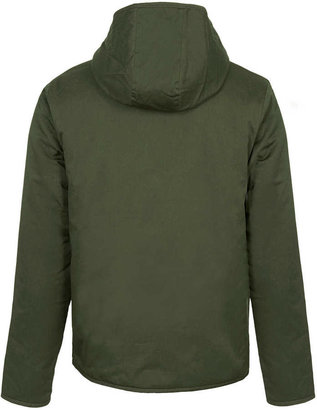 Topman Khaki Borg Lined Hooded Jacket