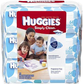Kimberly Clark Corp. Huggies Simply Clean Wipes - 192-Ct