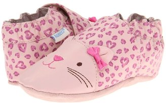 Robeez Kitty Soft Soles (Infant/Toddler) (Fuchsia) - Footwear