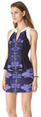 Black Halo Nina Colorblock Mini Dress
