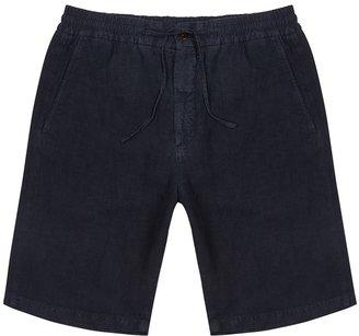 NN07 Seb Navy Linen Shorts