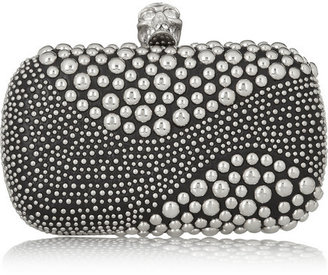 Alexander McQueen The Skull studded leather box clutch