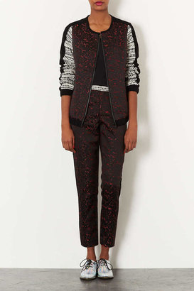 Topshop Mix and match jacquard trousers