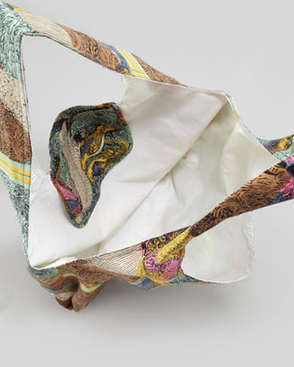 Twelfth St. By Cynthia Vincent Parrot Scarf Shopper Bag