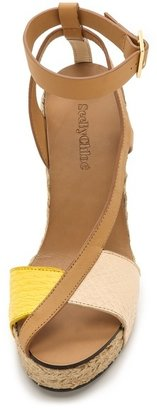 See by Chloe Cross Strap Espadrille Wedge Sandals