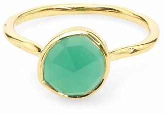 Monica Vinader Gold Vermeil Siren Green Onyx Stacking Ring