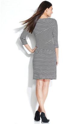 Calvin Klein Striped Side-Tie Dress