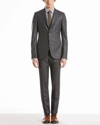 Gucci Check Flannel Dylan Suit, Gray