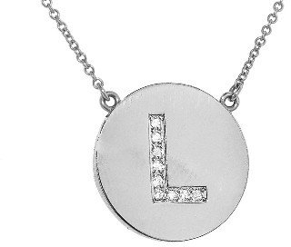 Jennifer Meyer Diamond Letter Necklace - L - White Gold