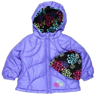 London Fog L212509 Infant Girl Bubble Jacket (Infant) (Peri) - Apparel