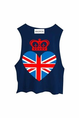 Wildfox Couture Royal Wedding Cutoff Tank in Midnight