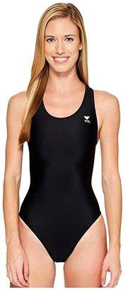 TYR Solid Maxfit Swimsuit (Black) Women's Swimwear