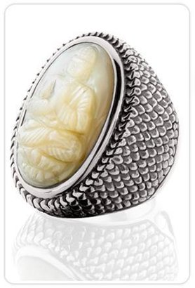 Kir Mother of Pearl Oval Ring