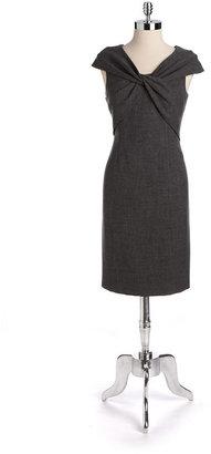 Anne Klein Twist-Front Sheath Dress