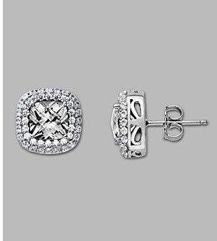Swarovski Fine Jewelry Balentino® Sterling Silver Stud Earrings Made With Cubic Zirconia Elements