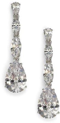 Adriana Orsini Sterling Silver Pear Drop Linear Earrings