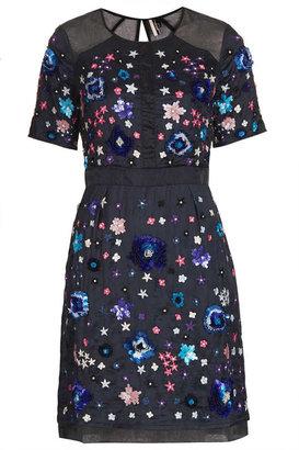 Topshop **LIMITED EDITION Embellished Organza Shift Dress