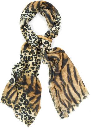 Bindya Cashmere And Silk Leopard Print Scarf