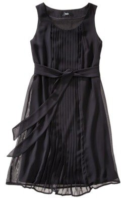 Mossimo Women's Pleated Tie Front Chiffon Dress - Assorted Colors