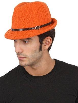 Inverni Cashmere Blend Woven Knit Hat