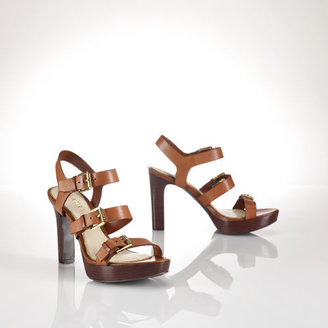 Ralph Lauren Leather Sadie Sandal