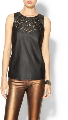 Juicy Couture Tinley Road Chloe Laser Cut Vegan Leather Tank