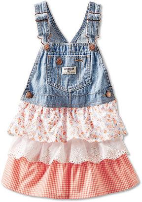 Osh Kosh Baby Girls' Denim Ruffled Dress