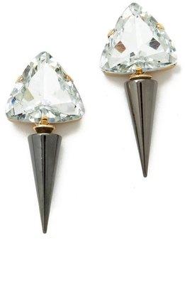Noir Spike Drop Earrings