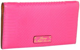 Lauren Ralph Lauren Banbury Snake Slim Wallet (Pink) - Bags and Luggage