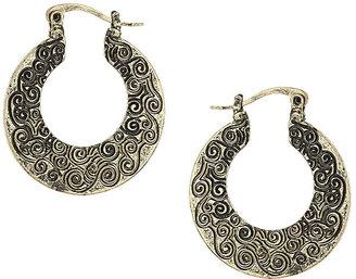 Topshop Engraved mini hoop earrings