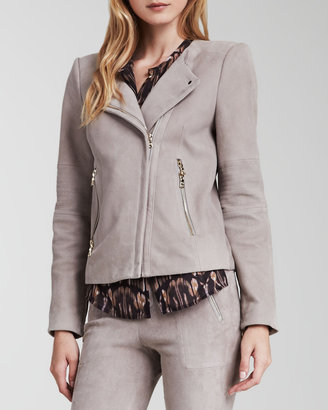 J Brand Ready to Wear Jacqueline Asymmetric Suede Jacket