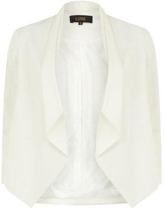 Dorothy Perkins Luxe Ivory soft drape jacket