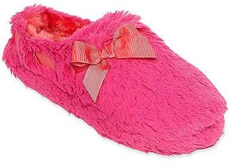 JCPenney Plush Clog Slippers with Ribbon & Bow