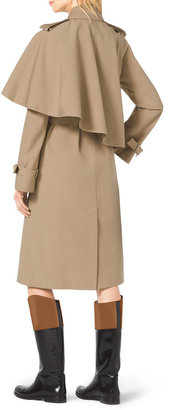 Michael Kors Cape-Side Stretch-Cotton Trenchcoat