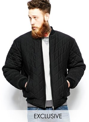 Reclaimed Vintage Quilted Bomber Jacket
