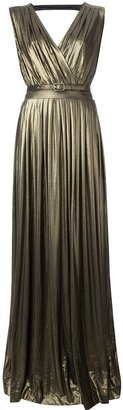Temperley London pleated empire line maxi dress