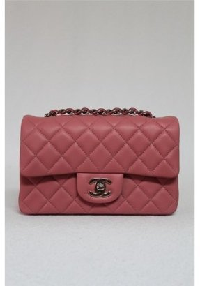 Chanel pristine (PR 2013 Mini Pink Rose Lambskin Quilted Leather Classic Flap Bag