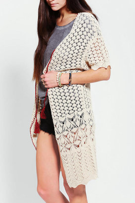 Urban Outfitters Ecote Pointelle Duster Cardigan