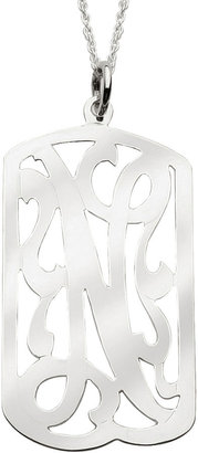 JCPenney FINE JEWELRY Personalized Sterling Silver Initial Swirl ID Tag
