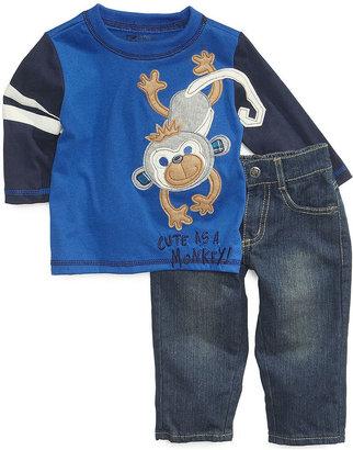 Nannette Baby Boys' 2-Piece Long-Sleeve Shirt & Pants Set