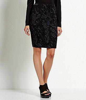 Eileen Fisher Floral Jacquard Skirt