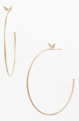 Mizuki 'Wings of Desire' Diamond Hoop Earrings