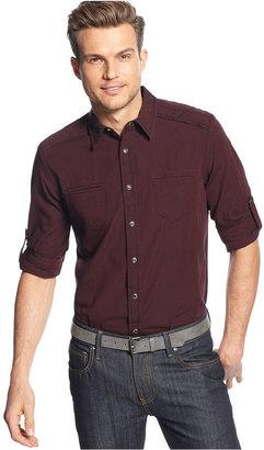INC International Concepts Shirt, Long Sleeve Montra Shirt