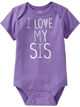 Old Navy Graphic Cap-Sleeve Bodysuits for Baby