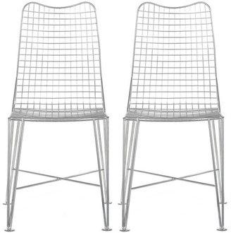 Fab Glenny Chair Chrome Set Of 2