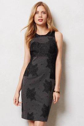 Anthropologie Lace Flocked Column Dress