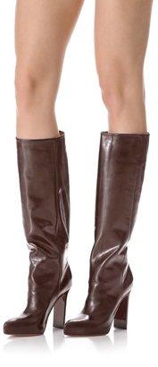 Maison Martin Margiela Wood Grain Heel Leather Boots