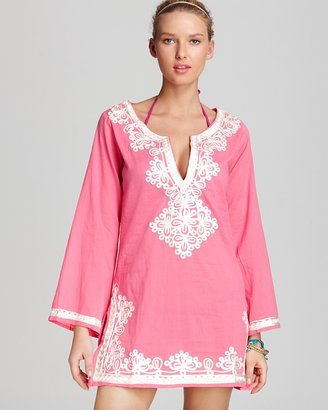 Debbie Katz Embroidered Cover Up Dress