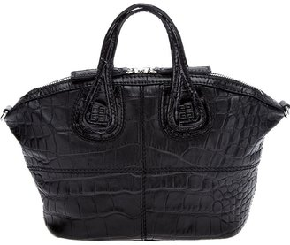 Givenchy 'Nightingale' micro crocodile tote